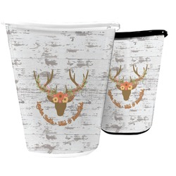 Floral Antler Waste Basket (Personalized)