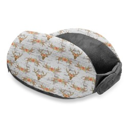 Floral Antler Travel Neck Pillow (Personalized)