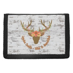 Floral Antler Trifold Wallet (Personalized)