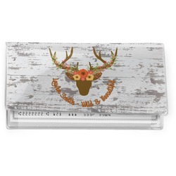 Floral Antler Vinyl Checkbook Cover (Personalized)