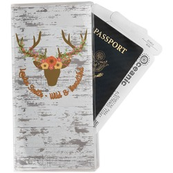 Floral Antler Travel Document Holder