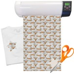 Floral Antler Heat Transfer Vinyl Sheet (12