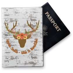 Floral Antler Vinyl Passport Holder (Personalized)