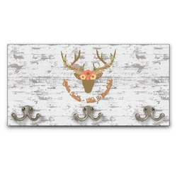 Floral Antler Wall Mounted Coat Rack (Personalized)