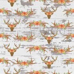 Floral Antler Wallpaper & Surface Covering