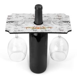 Floral Antler Wine Bottle & Glass Holder (Personalized)