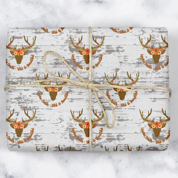 Floral Antler Wrapping Paper (Personalized)