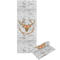 Floral Antler Yoga Mat - Printable Front and Back (Personalized)
