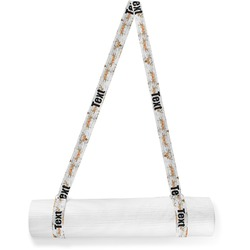 Floral Antler Yoga Mat Strap (Personalized)