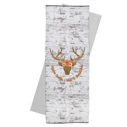 Floral Antler Yoga Mat Towel (Personalized)