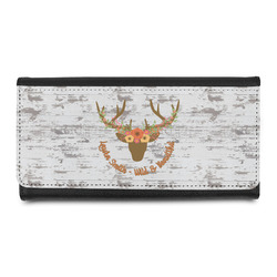 Floral Antler Leatherette Ladies Wallet (Personalized)
