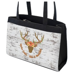 Floral Antler Zippered Everyday Tote (Personalized)
