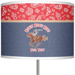 """Western Ranch 13"""" Drum Lamp Shade Polyester (Personalized)"""