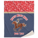 Western Ranch Sherpa Throw Blanket (Personalized)
