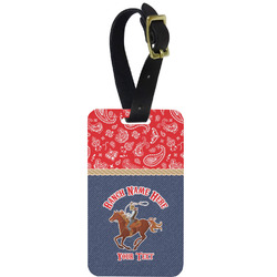 Western Ranch Metal Luggage Tag w/ Name or Text