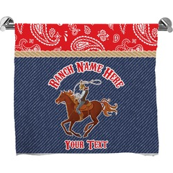 Western Ranch Full Print Bath Towel (Personalized)