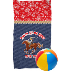 Western Ranch Beach Towel (Personalized)