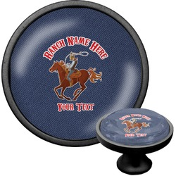 Western Ranch Cabinet Knob (Black) (Personalized)