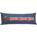 Western Ranch Body Pillow Case (Personalized)