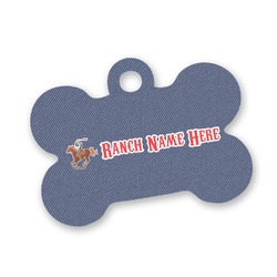 Western Ranch Bone Shaped Dog Tag (Personalized)
