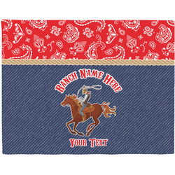 Western Ranch Woven Fabric Placemat - Twill w/ Name or Text