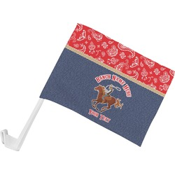 Western Ranch Car Flag (Personalized)