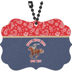 Western Ranch Rear View Mirror Charm (Personalized)
