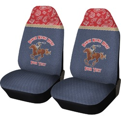 Western Ranch Car Seat Covers (Set of Two) (Personalized)