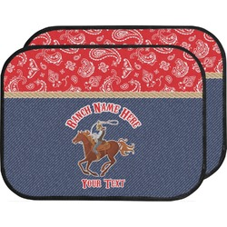 Western Ranch Car Floor Mats (Back Seat) (Personalized)