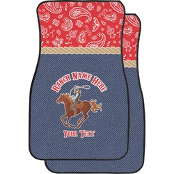 Western Ranch Car Floor Mats (Front Seat) (Personalized)