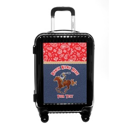 Western Ranch Carry On Hard Shell Suitcase (Personalized)