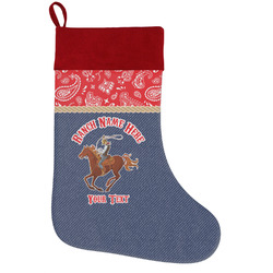 Western Ranch Holiday / Christmas Stocking (Personalized)