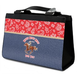 Western Ranch Classic Tote Purse w/ Leather Trim (Personalized)