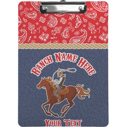 Western Ranch Clipboard (Personalized)