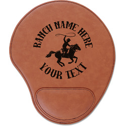 Western Ranch Leatherette Mouse Pad with Wrist Support (Personalized)