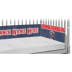 Western Ranch Crib Bumper Pads (Personalized)
