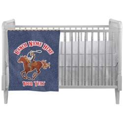 Western Ranch Crib Comforter / Quilt (Personalized)