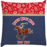 Western Ranch Decorative Pillow Case (Personalized)