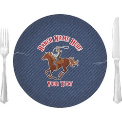 Western Ranch Glass Lunch / Dinner Plates 10