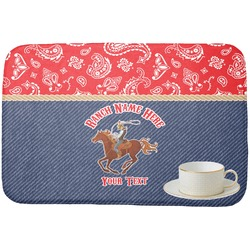 Western Ranch Dish Drying Mat (Personalized)