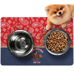 Western Ranch Dog Food Mat - Small w/ Name or Text