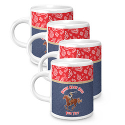 Western Ranch Espresso Mugs - Set of 4 (Personalized)