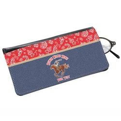 Western Ranch Genuine Leather Eyeglass Case (Personalized)