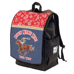 Western Ranch Backpack w/ Front Flap  (Personalized)