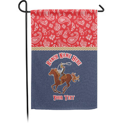 Western Ranch Single Sided Garden Flag With Pole (Personalized)