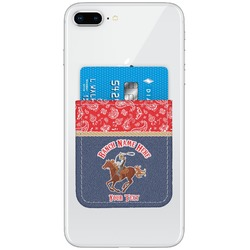 Western Ranch Genuine Leather Adhesive Phone Wallet (Personalized)
