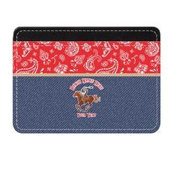 Western Ranch Genuine Leather Front Pocket Wallet (Personalized)
