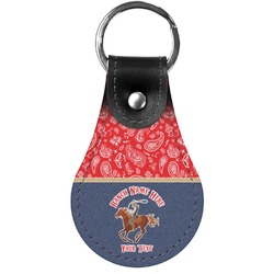 Western Ranch Genuine Leather  Keychain (Personalized)