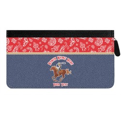 Western Ranch Genuine Leather Ladies Zippered Wallet (Personalized)