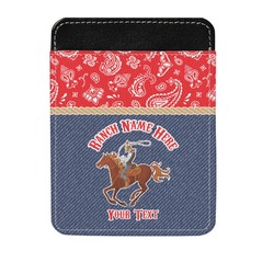 Western Ranch Genuine Leather Money Clip (Personalized)